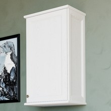 Шкаф ValenHouse Лиора 40 белый, фурнитура хром