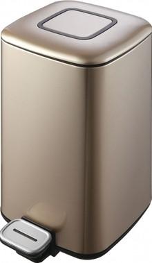 Мусорное ведро Weltwasser WW Mila CG 12L шампань золото