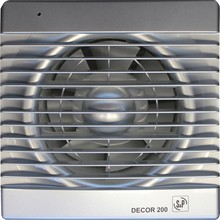 Вытяжной вентилятор Soler&Palau Decor 200C silver
