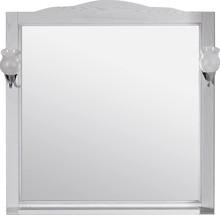 Зеркало ASB-Woodline Римини Nuovo 80 белое, патина серебро