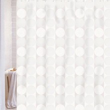 Штора для ванной Carnation Home Fashions Jacquard White Circle