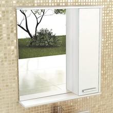 Зеркало-шкаф Comforty Тулуза 75 белый глянец