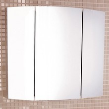 Зеркало-шкаф Comforty Лаура 75-3 белый глянец
