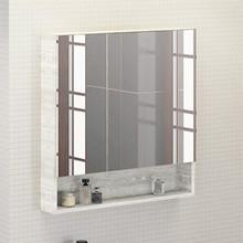 Зеркало-шкаф Comforty Никосия 80 дуб белый