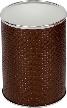 Мусорное ведро Geralis M-PCH-B шоколад, хром, 3 л