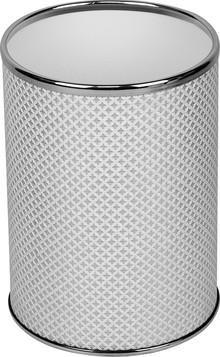 Мусорное ведро Geralis M-RWH-B белое, хром, 3 л