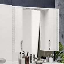 Зеркало-шкаф ValenHouse Ривьера 100 патина серебро, фурнитура хром