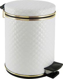 Мусорное ведро Cameya 05WGC-9 стеганая, белая, золото