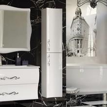Шкаф-пенал Aima Design Amethyst 30П R white, вогнутый