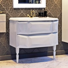 Тумба с раковиной Aima Design Crystal 90 white