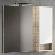 Зеркало-шкаф Comforty Гамбург 90 дуб сонома