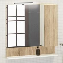 Зеркало-шкаф Comforty Рига 80 дуб сонома