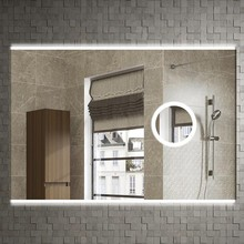 Зеркало Armadi Art Vallessi 80x60, с увеличением и подсветкой