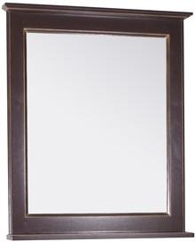Зеркало ASB-Woodline Прато 70 орех темный, патина золото