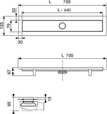 Душевой лоток TECE Linus 15103079 2 в 1 70 см