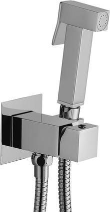 Гигиенический душ Paffoni Tweet Square ZDUP112CR со смесителем, С В НУТРЕННЕЙ ЧАСТЬЮ