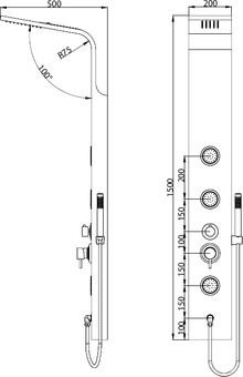 Душевая панель RGW Shower Panels SP-04 B