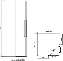 Душевой уголок RGW SV-31-B 80х80