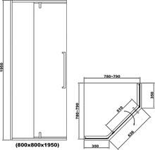 Душевой уголок RGW SV-81-B 80х80