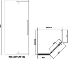 Душевой уголок RGW SV-81-B 90х90