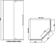 Душевой уголок RGW SV-81-B 100х100