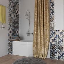 Штора для ванной Aima Design У37612 200x240, двойная, золотистая
