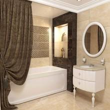 Штора для ванной Aima Design У37612 200x240, двойная, коричневая