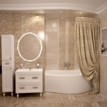 Штора для ванной Aima Design У37613 240x240, двойная, жемчужная