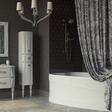 Штора для ванной Aima Design У37613 240x240, двойная, серая