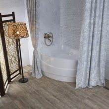 Штора для ванной Aima Design У37614 270x240, двойная, белая
