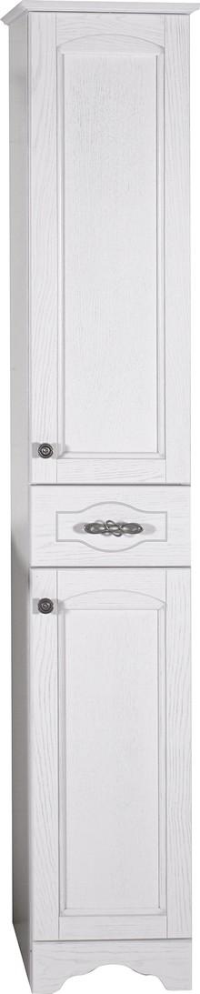 Шкаф-пенал ASB-Woodline Римини Nuovo 30 белый, патина серебро