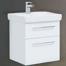 Тумба для комплекта Dreja Q max 60 белый глянец, подвесная, 2 ящика