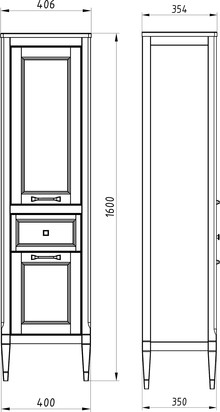 Шкаф-пенал ASB-Woodline Гранда 40