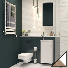 Мебель для ванной Velvex Klaufs 40.1D белая, шатанэ