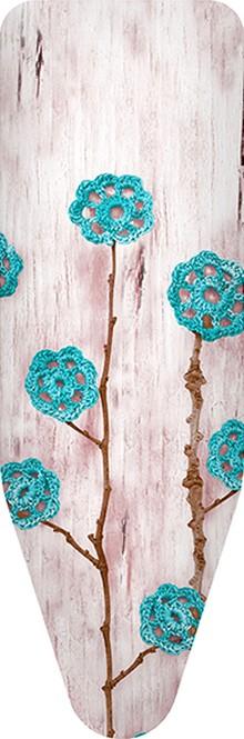 Чехол для гладильной доски Colombo New Scal S.p.A. Ажурные цветы бирюзовые 140х55