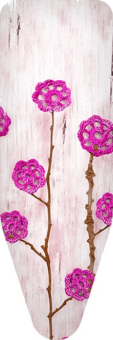 Чехол для гладильной доски Colombo New Scal S.p.A. Ажурные цветы розовые 140х55
