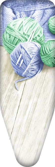 Чехол для гладильной доски Colombo New Scal S.p.A. Клубки пряжи синие с зеленым 130х50