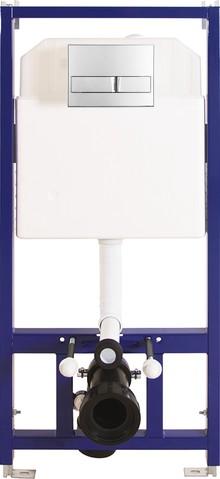 Система инсталляции для унитазов Berges Wasserhaus Novum L3 с кнопкой смыва хром
