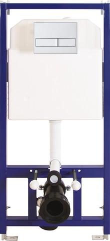 Система инсталляции для унитазов Berges Wasserhaus Novum L2 с кнопкой смыва матовый хром