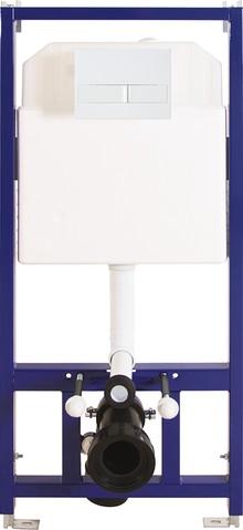 Система инсталляции для унитазов Berges Wasserhaus Novum L1 с белой кнопкой смыва