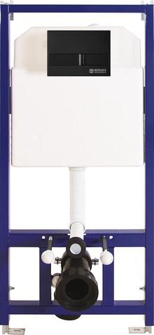 Система инсталляции для унитазов Berges Wasserhaus Novum L5 с черной кнопкой смыва Soft Touch