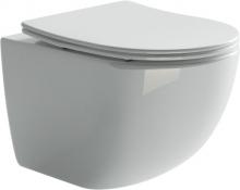 Унитаз подвесной Ceramica Nova Forma CN3009 с микролифтом, безободковый