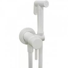 Гигиенический душ Paffoni Tweet Round ZDUP110BO со смесителем, С ВНУТРЕННЕЙ ЧАСТЬЮ белый