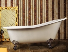 Чугунная ванна Magliezza Beatrice 153x76,5 (ножки хром)