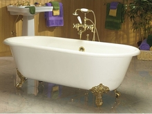 Чугунная ванна Magliezza Patricia 168x76.5 (ножки золото)