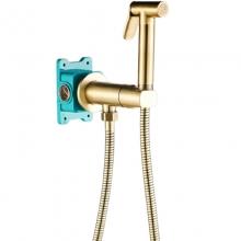 Гигиенический душ со смесителем ALMAes Agata  AL-877-09 Бронза С ВНУТРЕННЕЙ ЧАСТЬЮ