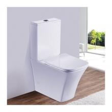 Унитаз напольный безободковый ESBANO CRISAN белый с сиденьем Микролифт
