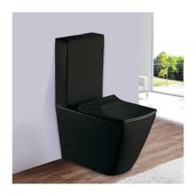 Унитаз напольный безободковый ESBANO DUERO-С (Матовый черный) с сиденьем Микролифт