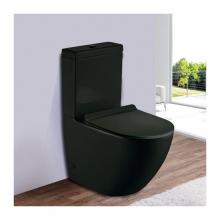 Унитаз напольный безободковый ESBANO RIPOLL-С (Матовый черный) с сиденьем Микролифт