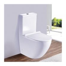 Унитаз напольный безободковый ESBANO RIPOLL-С (Белый) с сиденьем Микролифт